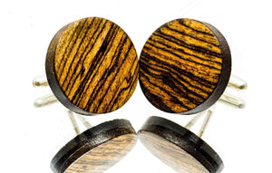 ELLA BING Wood Cufflinks No. 911