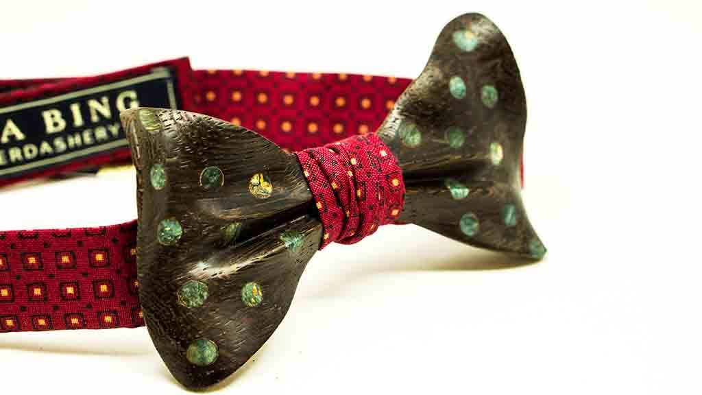 Wenge Wooden Bow Tie No. 594