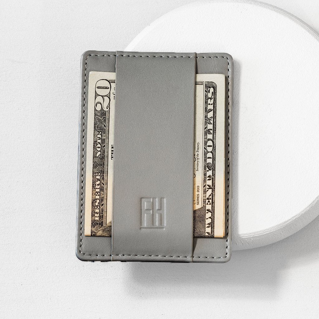 SLIM RFID CARD HOLDER WALLET IN TOP GRAIN LEATHER