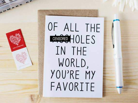 Honest AF Cards - Of All The A-holes In The World Card