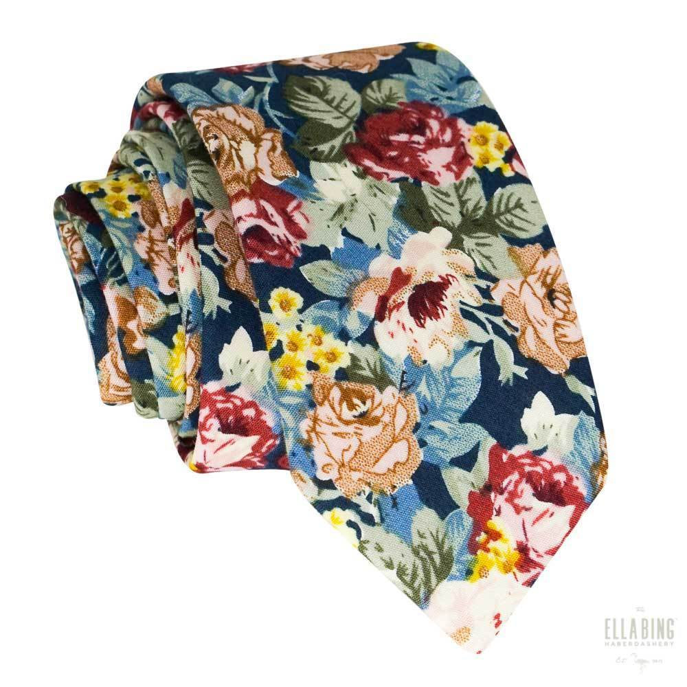Floral Cotton Necktie No. 320