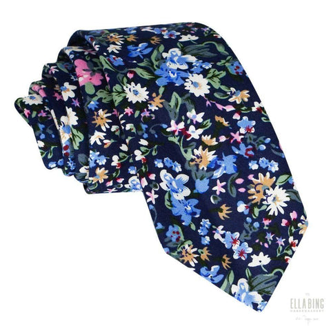 Floral Cotton Necktie No. 321