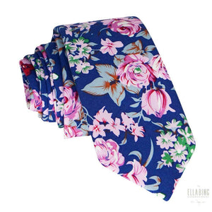 Floral Cotton Necktie No. 322