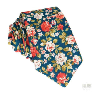 Floral Cotton Necktie No. 323
