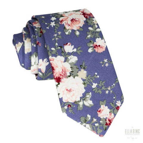 Floral Cotton Necktie No. 324