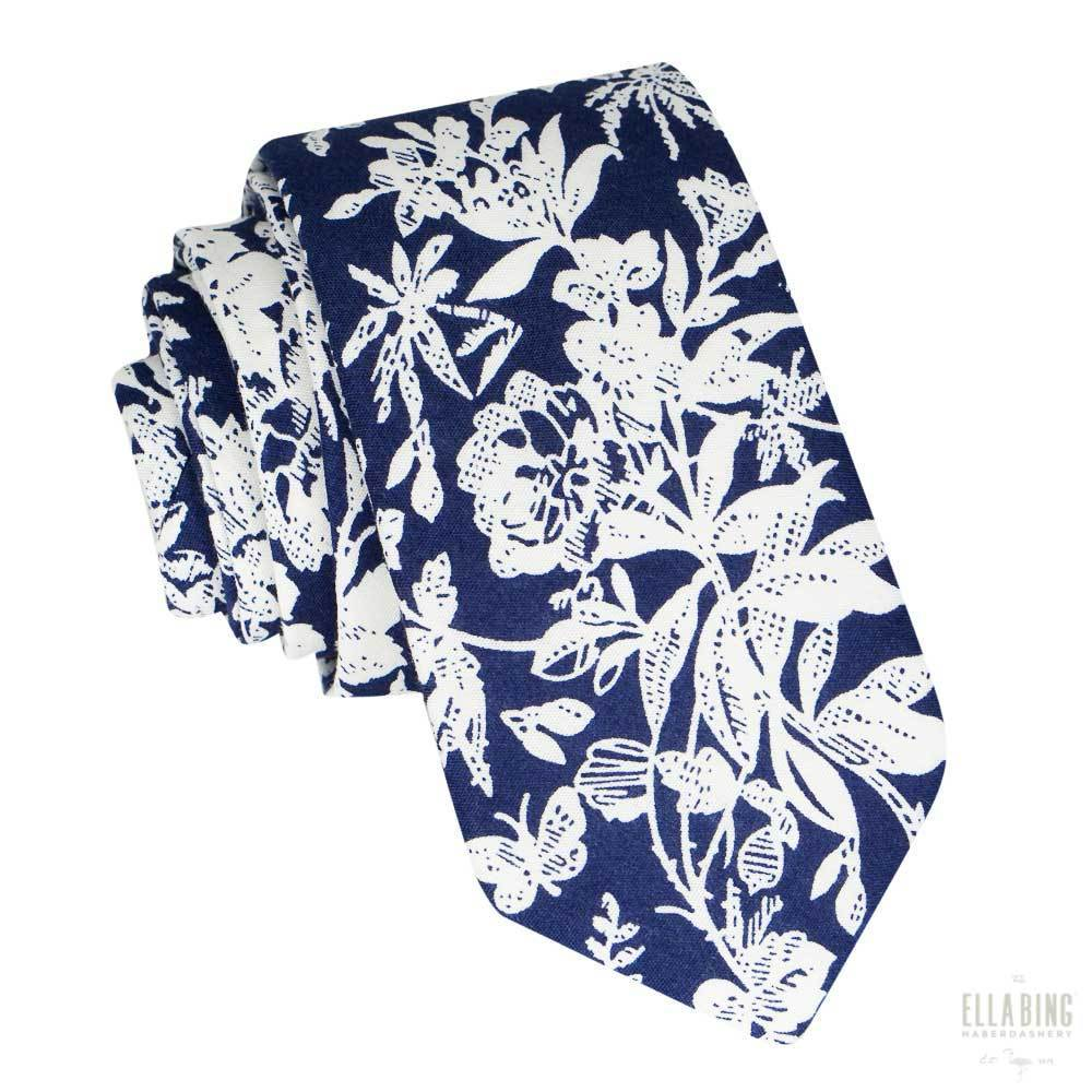Floral Cotton Necktie No. 325