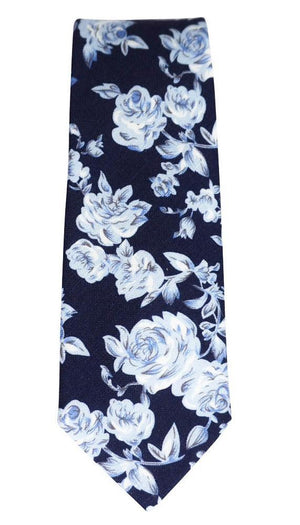 Miko/Ella Bing Cotton Necktie Navy Floral Cotton Necktie No. 2117