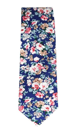 Miko/Ella Bing Cotton Necktie Navy Floral Cotton Necktie No. 2131