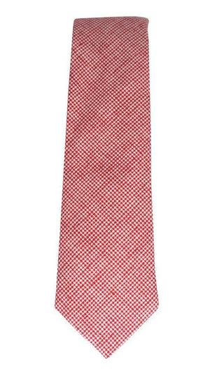 Miko/Ella Bing Cotton Necktie Red Check Cotton Necktie No. 2133