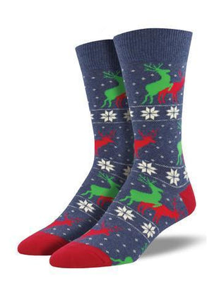 Socksmith Dress Socks Naughty Reindeer Games Dress Socks