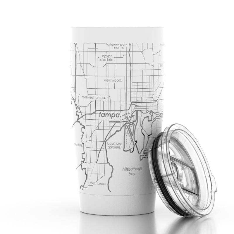 Well Told - Tampa Bay FL Map 20 oz Insulated Pint Tumbler