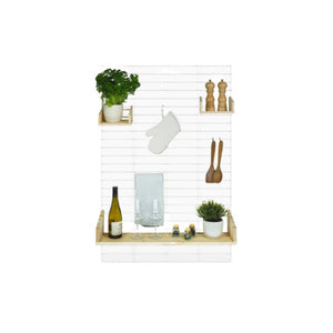 Decoratief En Multifunctioneel Wandrek – Fency – Wit