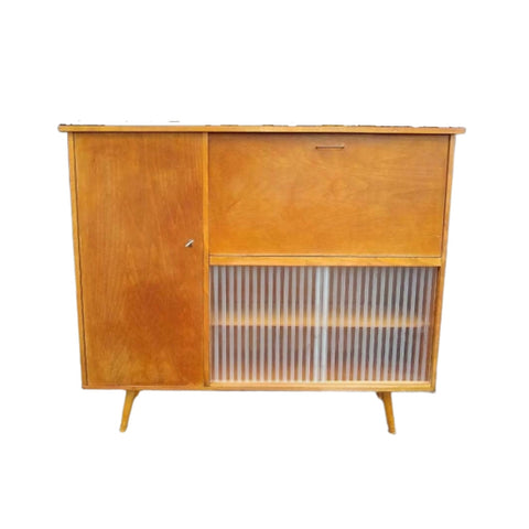 Vintage mid century highboard dressoir wandmeubel