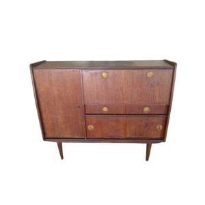 Vintage mid century highboard wandmeubel dressoir kastje