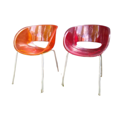 2 vintage Sintesi orbit large stoelen - RELIVING