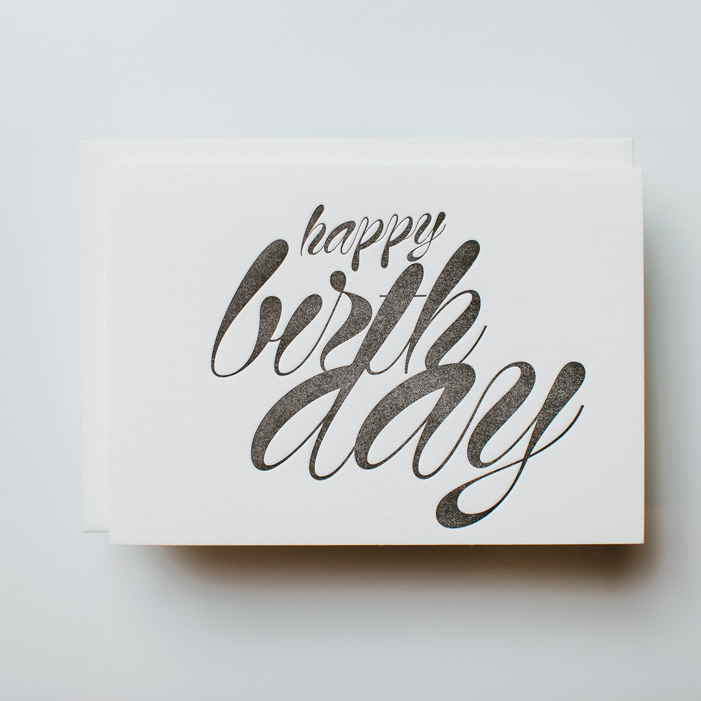 "B+W, ""Happy Birthday"" Greeting Card"
