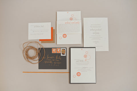 Alee Press Atlanta GA Custom Letterpress Wedding Invitations
