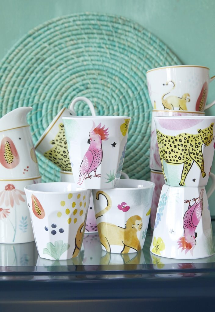 Rice melamine cups animals