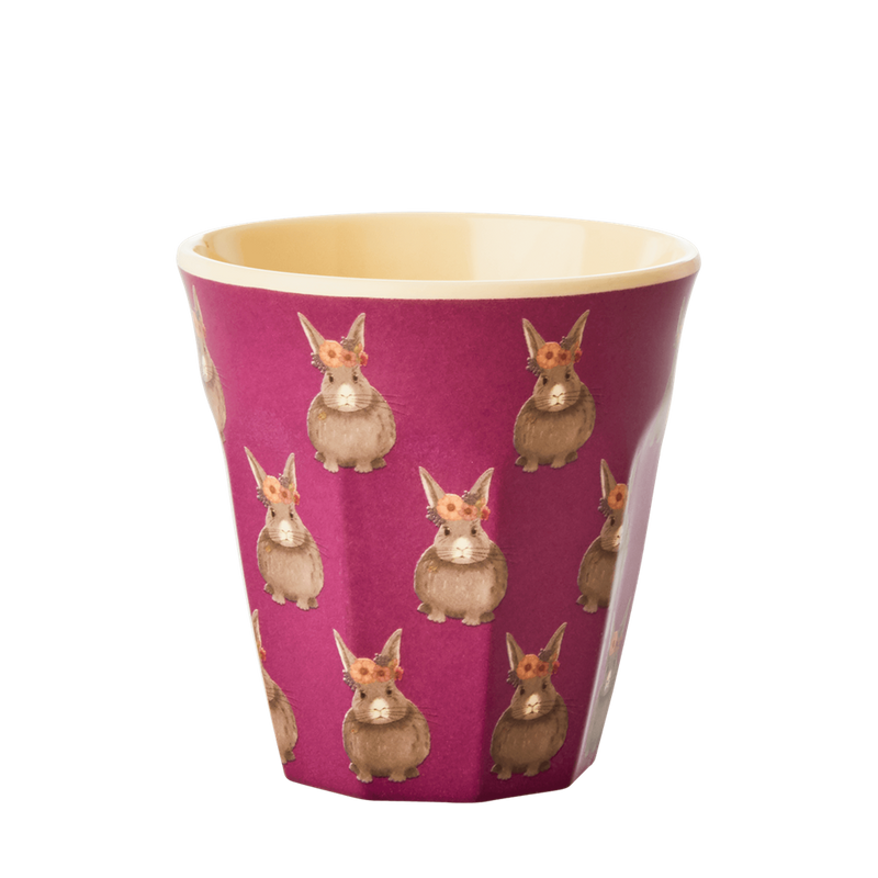Set of 6 Pink Animal melamine cups (small)