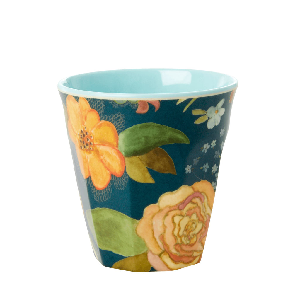 Selma's Flower Blue melamine cup (medium)