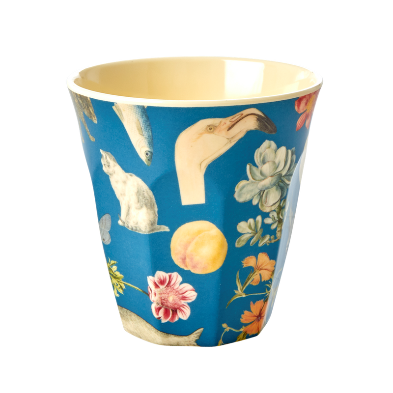 Art print in Blue melamine cup (medium)