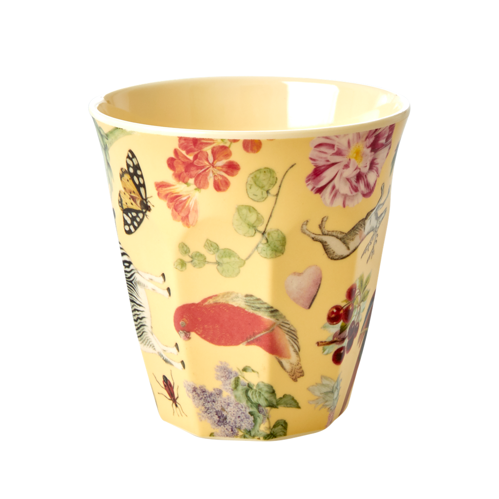 Art print in Creme melamine cup (medium)