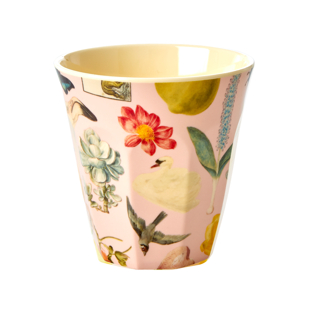 Art print in Pink melamine cup (medium)