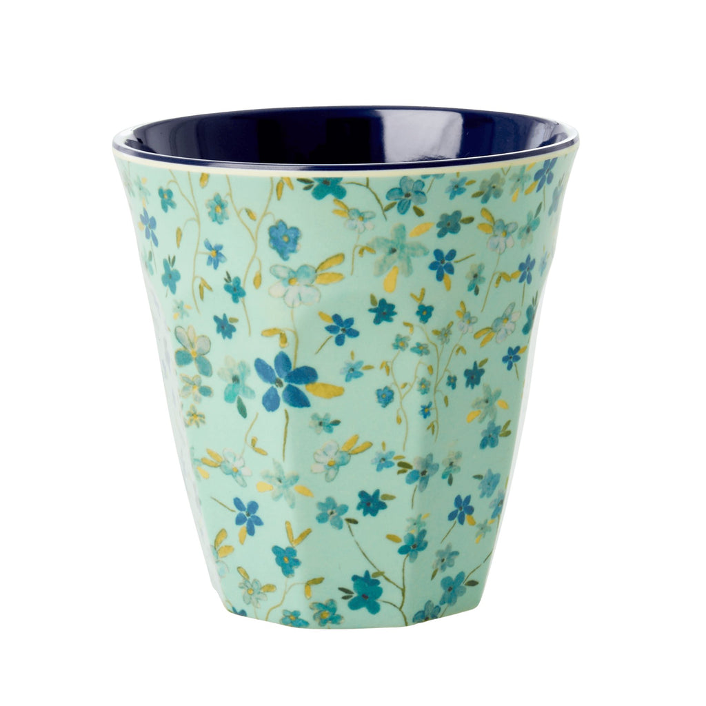 Blue Flower melamine cup (medium)