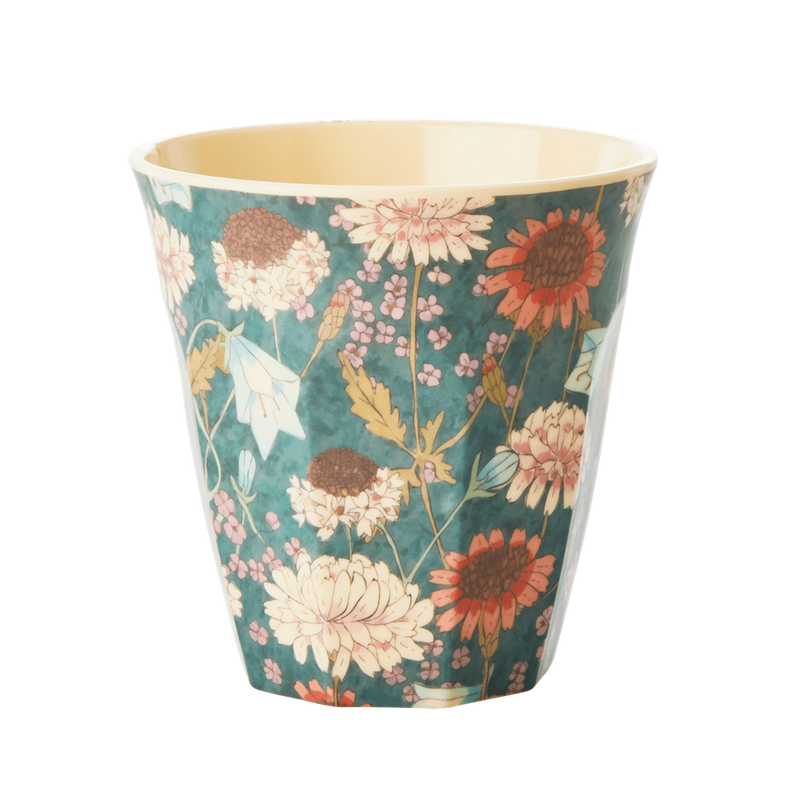 Fall Flowers melamine cup (medium)
