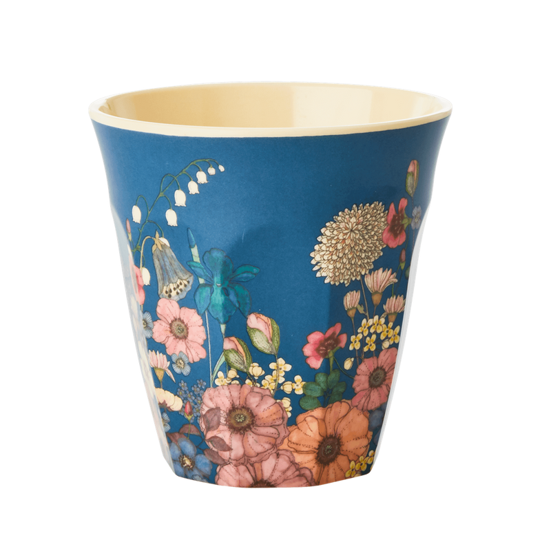 Flower Collage melamine cup (medium)