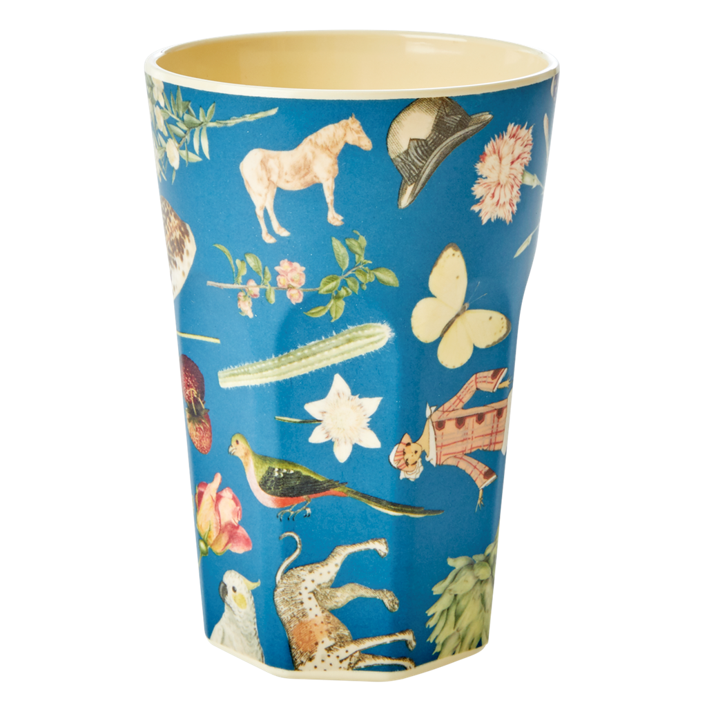 Art Print in Blue melamine cup (tall)
