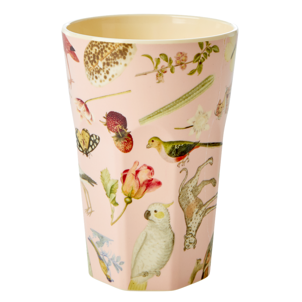Art Print in Pink melamine cup (tall)