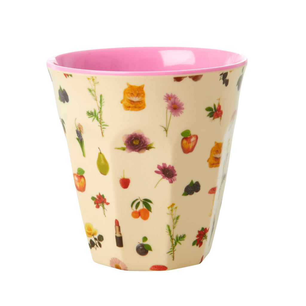 Lipstick Fall melamine cup (medium)