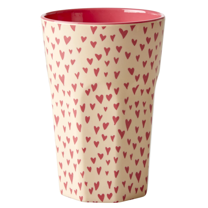 Small hearts melamine cup (tall)