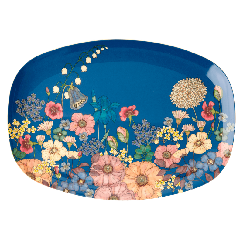 Flower Collage melamine platter