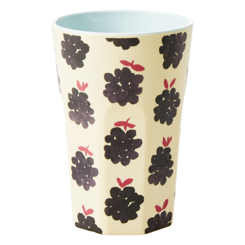 Melamine cup Blackberry Print Tall