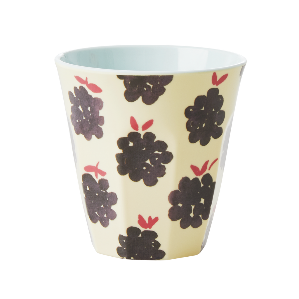 Melamine cup Blackberry Print Medium
