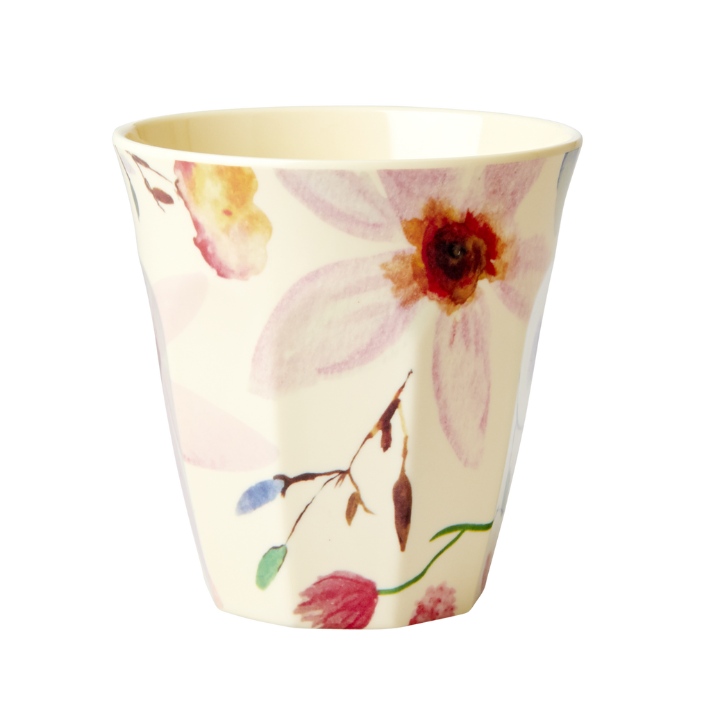 Melamine Cup Selma's Flower Print Medium