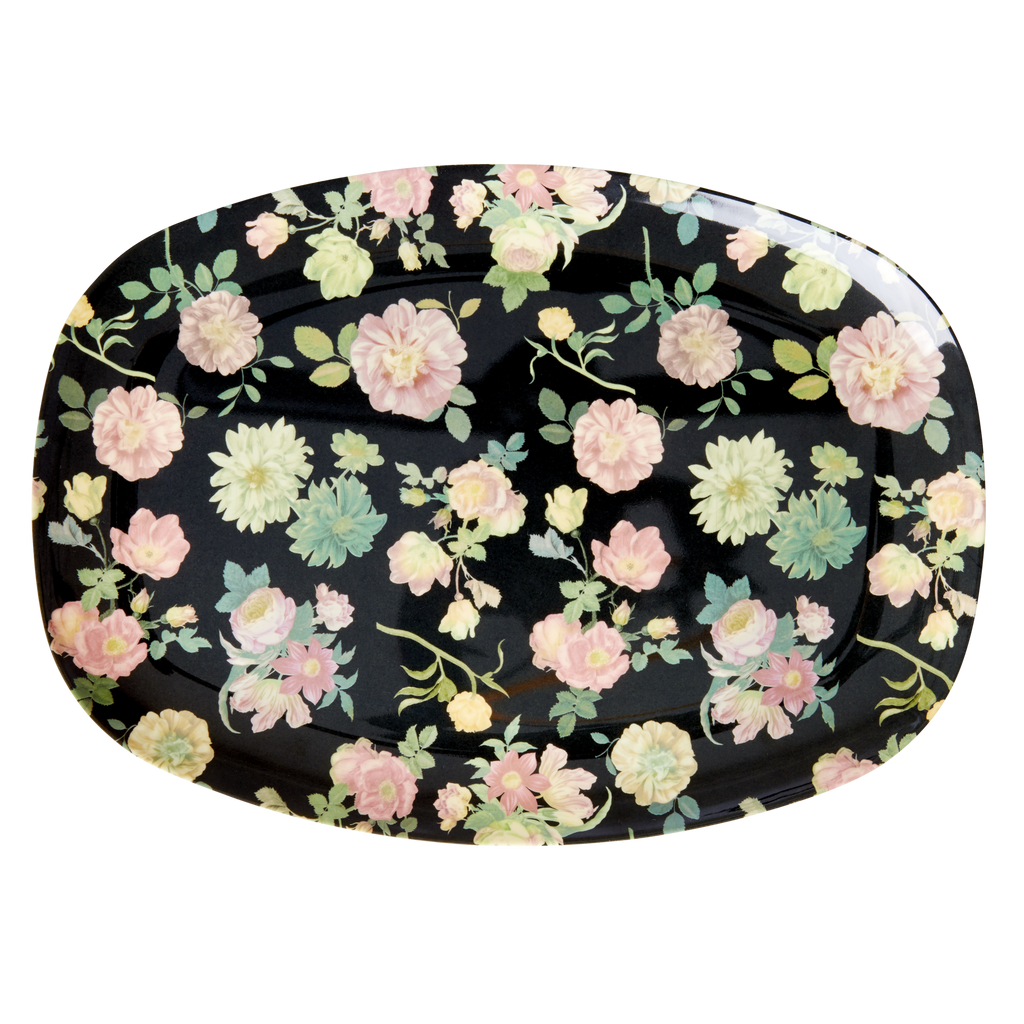 Melamine plate Dark Rose