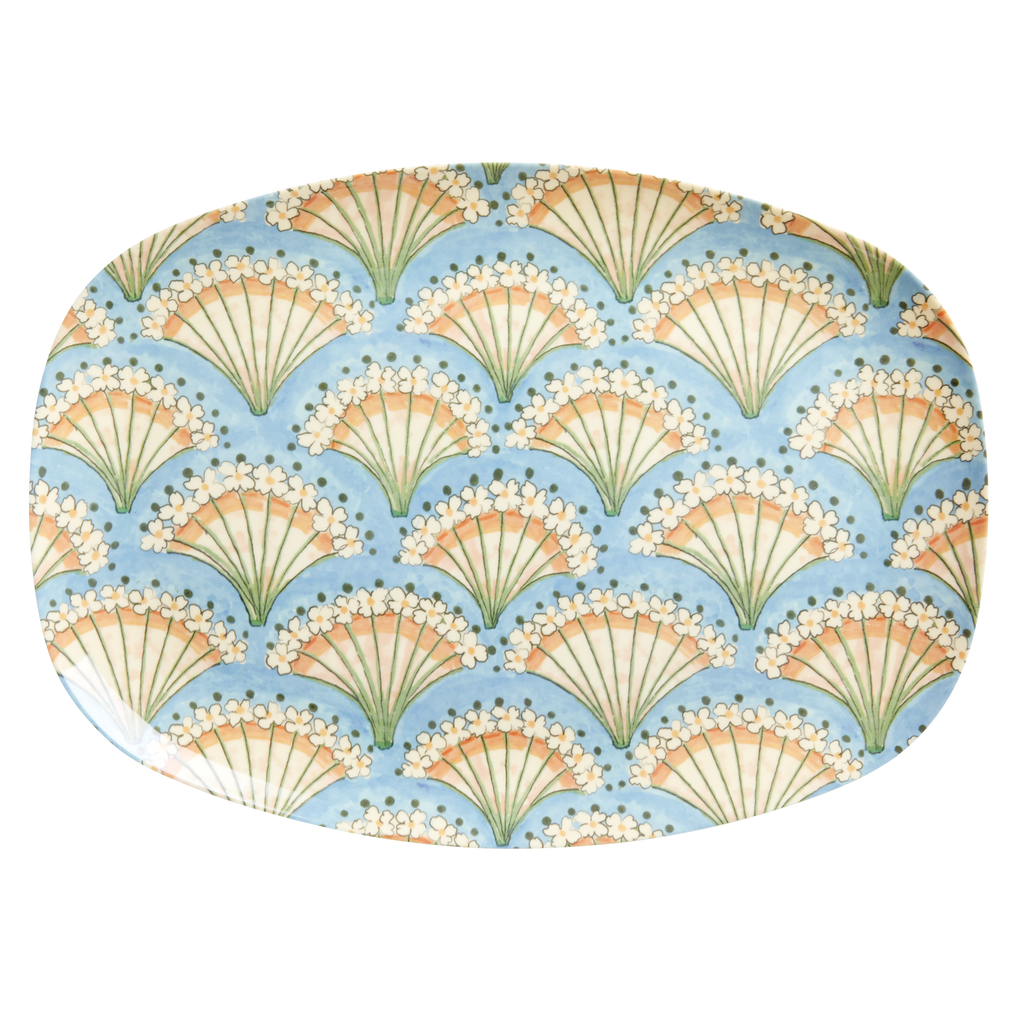 Melamine plate Flower Fan