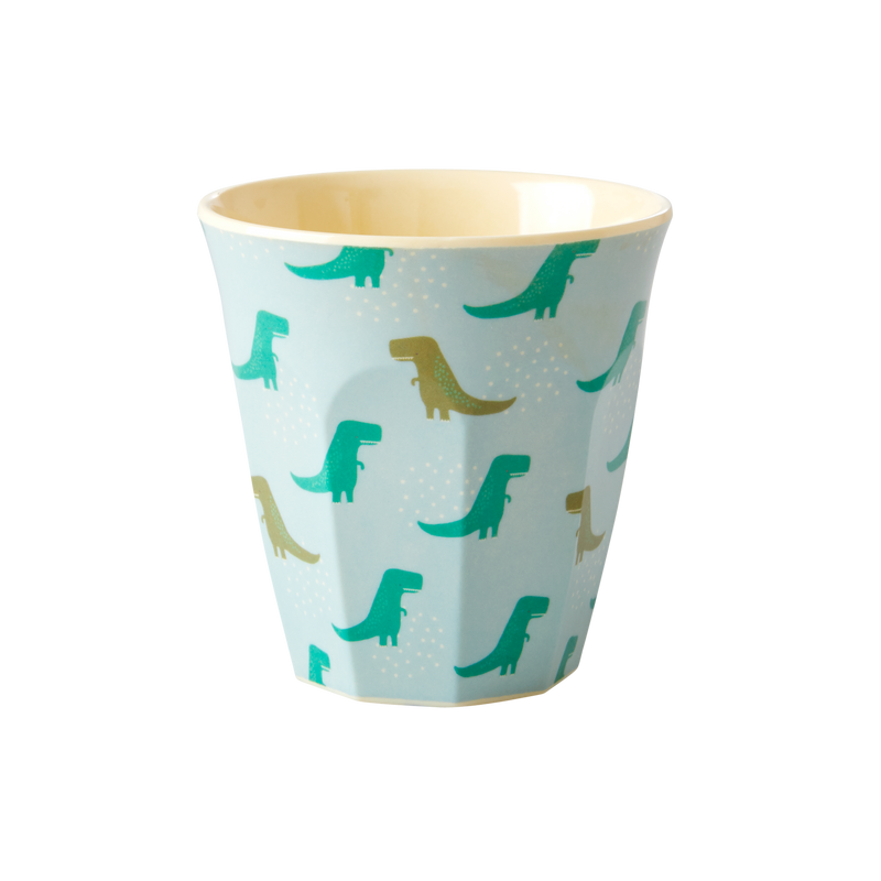 6 Assorted dinosaur kids melamine cups (small)