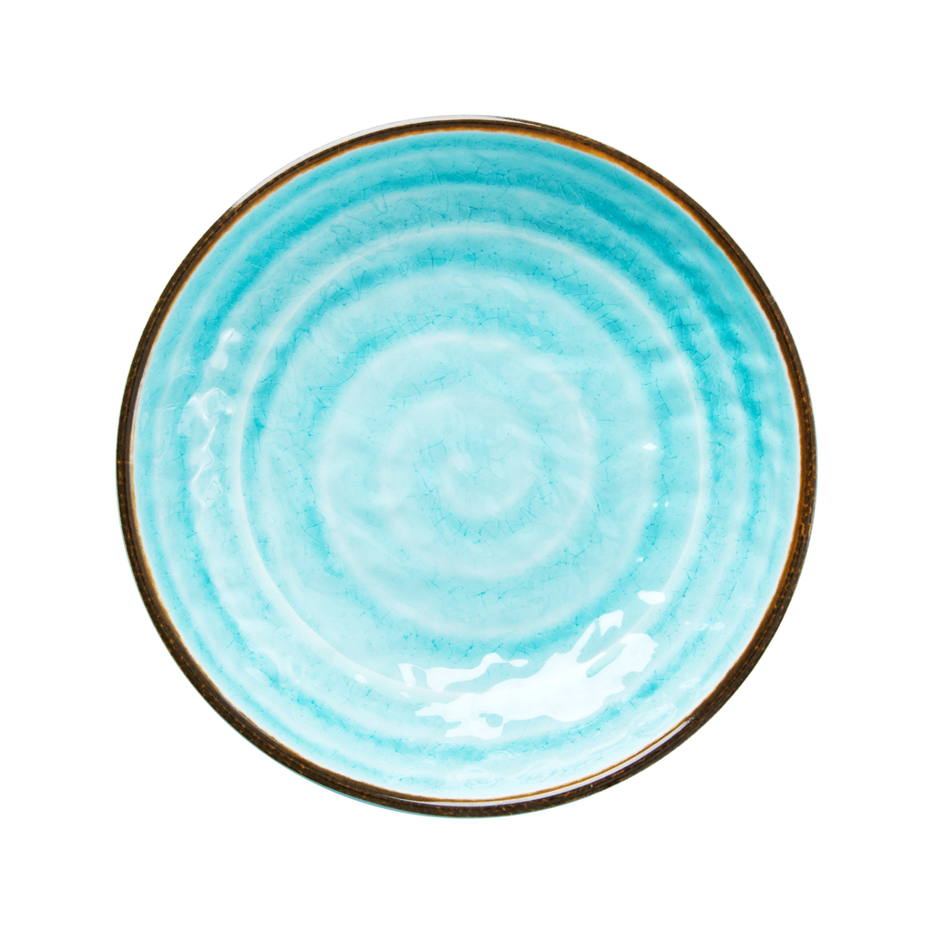 Soup and pasta bowl Swirl Aqua