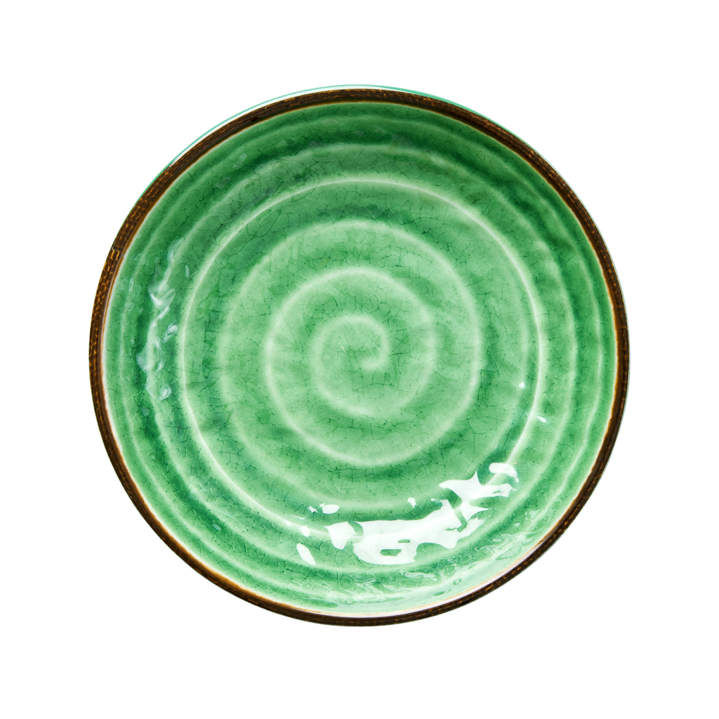 Soup and pasta bowl Swirl Green