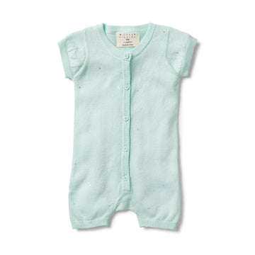 MOON DROPS KNITTED SHORT SLEEVE GROWSUIT - Wilson and Frenchy
