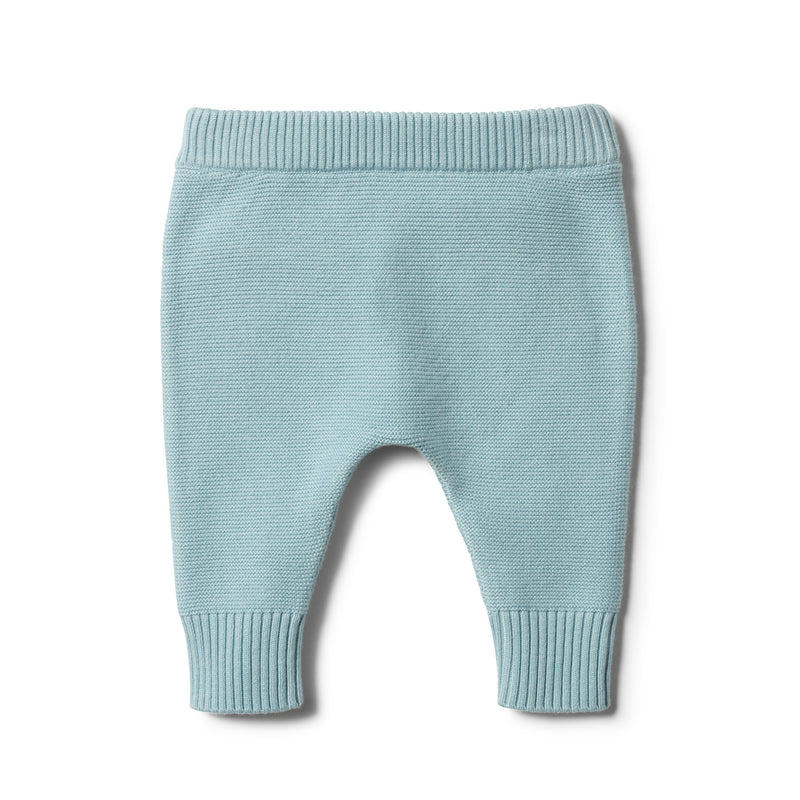 SEAFOAM KNITTED LEGGING - Wilson and Frenchy