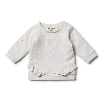 Fleck Ruffle Sweat - Wilson and Frenchy