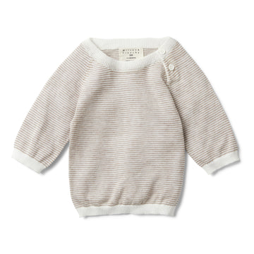 WOODSMOKE STRIPE KNITTED JUMPER - Wilson and Frenchy