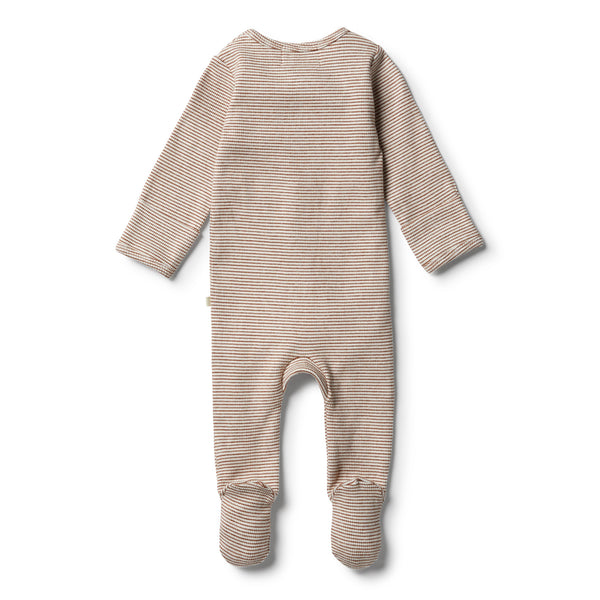 Organic Toasted Pecan Zipsuit - Wilson and Frenchy