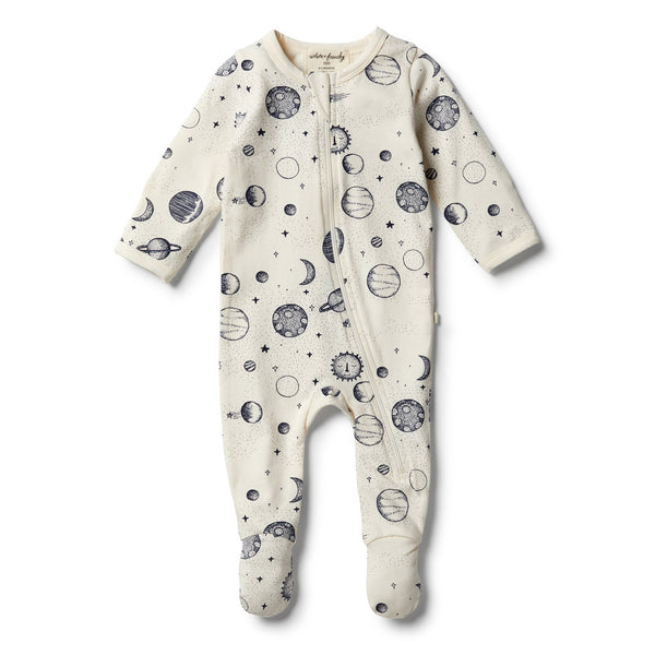 Organic Star Gazing Zipsuit - Wilson and Frenchy