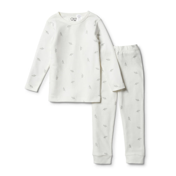 Organic Float Away L/S Pyjama Set - Wilson and Frenchy